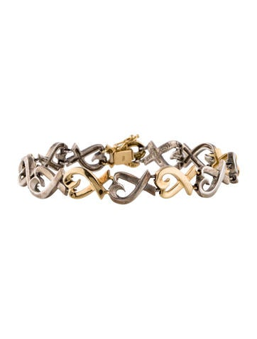 Tiffany & Co. Two-Tone Loving Hearts Bracelet