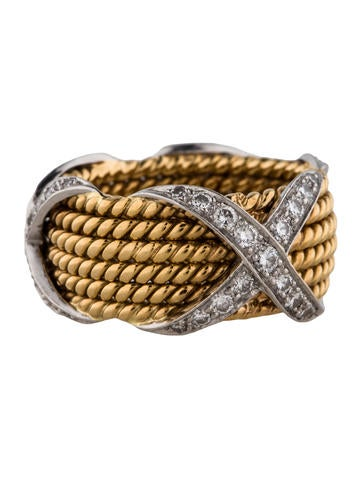 Tiffany & Co. Schlumberger Rope Six Row X Ring