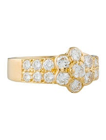 Van Cleef & Arpels 1.09ctw Fleurette Diamond Ring
