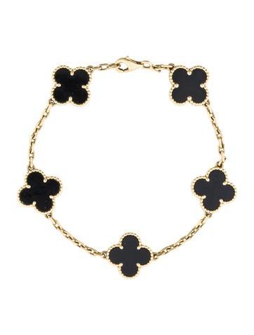 Van Cleef 0026 Arpels Alhambra Onyx Bracelet