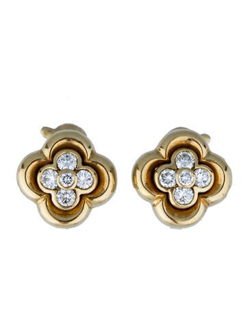 Van Cleef & Arpels Diamond Clover Earrings