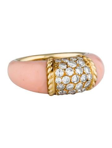 Van Cleef 0026 Arpels Coral 0026 Diamond Ring