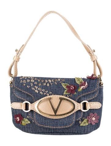 Valentino Denim Handle Bag