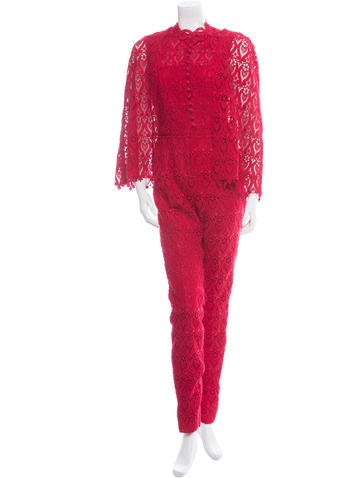 Valentino Macrame Lace Jumpsuit