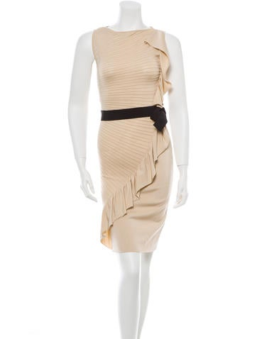 Valentino mouwloze gordel jurk