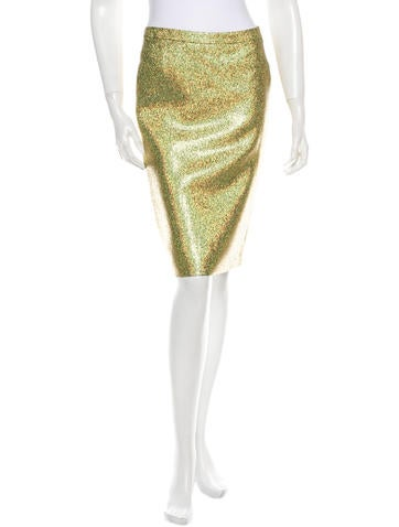 Veronique Branquinho Metallic Skirt