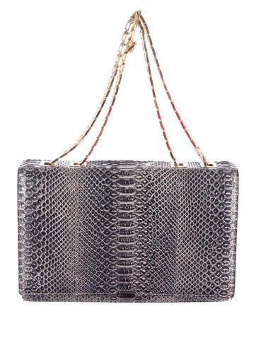 Victoria Beckham Python Hexagonal Chain Bag