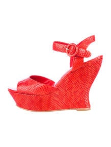 Alice + Olivia Embossed Wedges