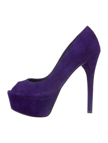 B Brian Atwood Suede Pumps