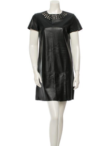 Diane von Furstenberg Leather Dress