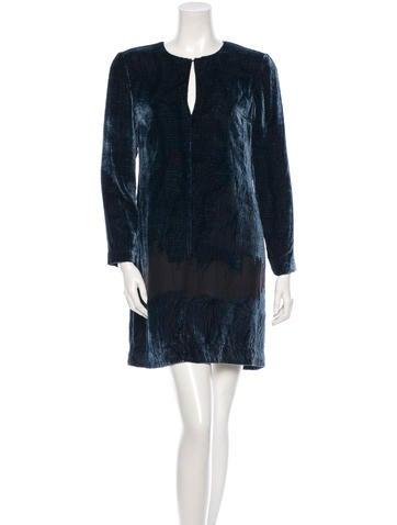 10 Crosby Derek Lam Velvet Shift Dress w/ Tags