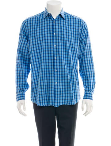 Paul Smith Plaid Button-Up Shirt