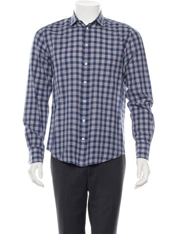 Rag 0026 Bone Plaid Button-Up Shirt