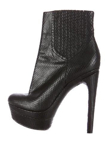 Rachel Zoe Snakeskin Ankle Boots