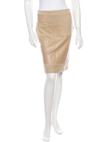 See by Chloé Leather Skirt