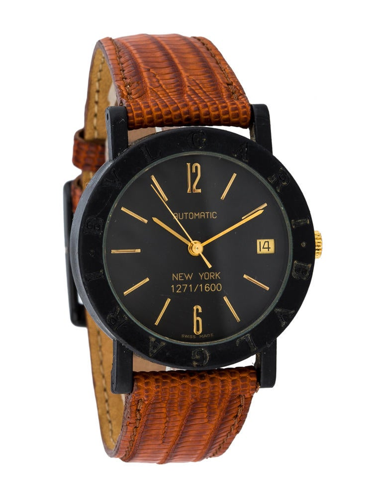 bvlgari new york carbon gold watches