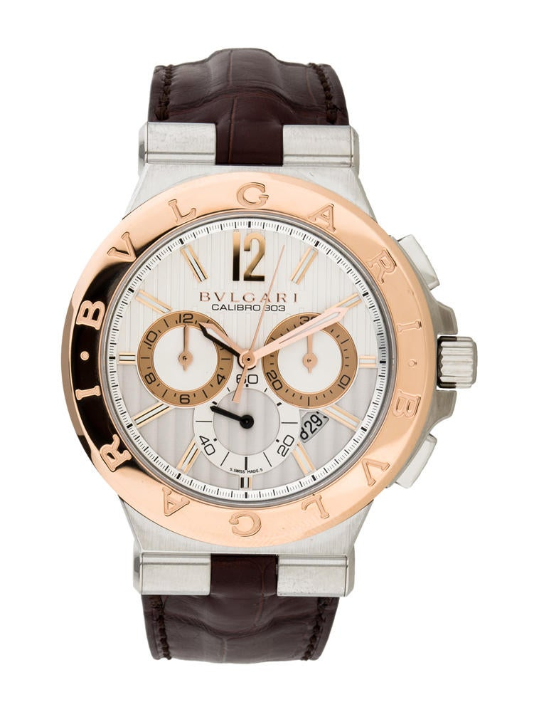 Bvlgari Diagono Calibro Chronograph Watch - Fine Watches ...