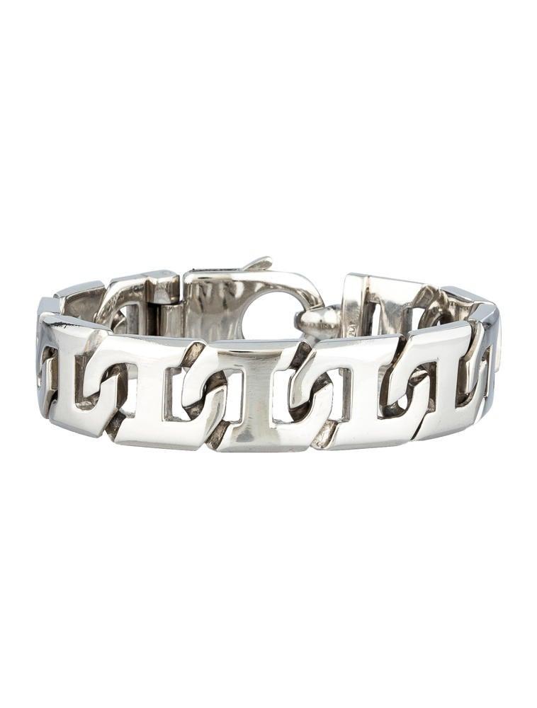 Braccio Solid Platinum Bracelet - Bracelets - 0FJ20001 ... Platinum Bracelets For Men