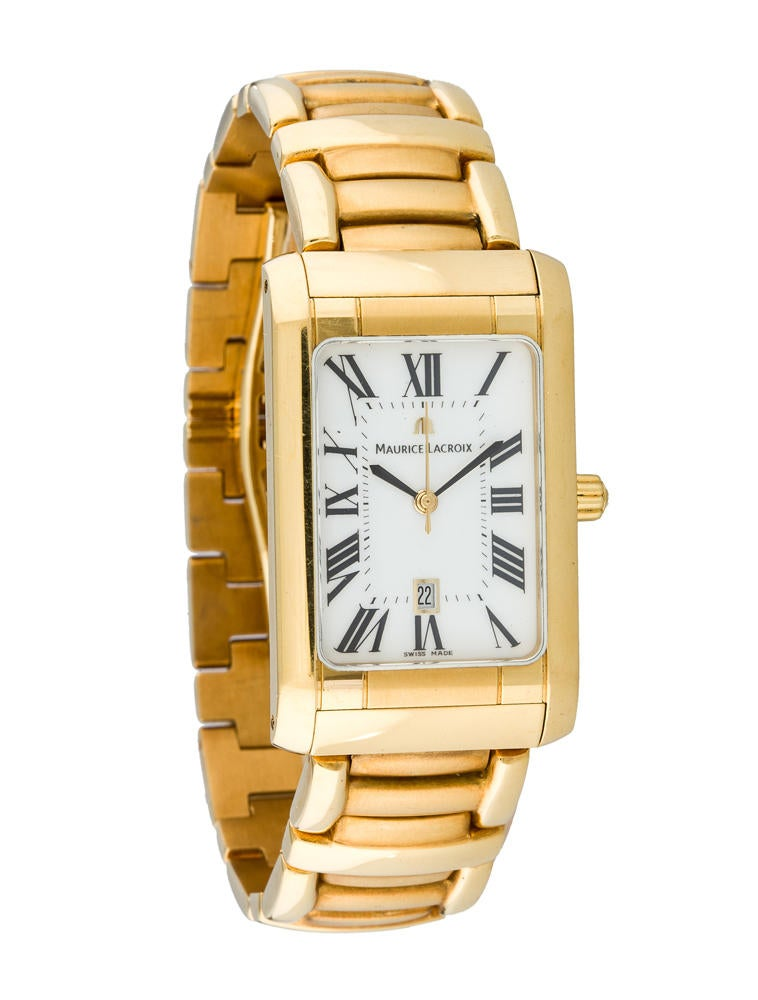 maurice lacroix 18k gold 0ma20023 the realreal