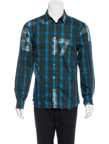 Acne Jeffrey Plaid Button-Up Shirt w/ Tags