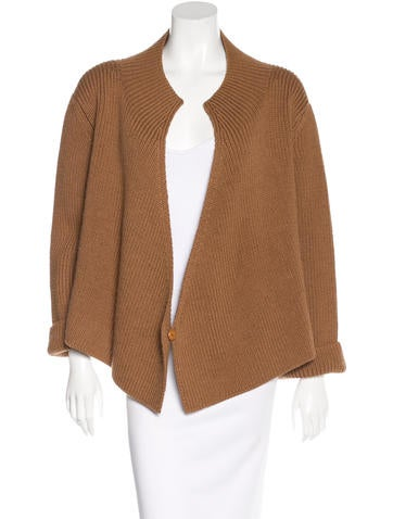 A Détacher Wool & Alpaca Draped Cardigan None