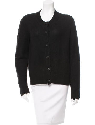A Détacher Alpaca Crew Neck Cardigan None