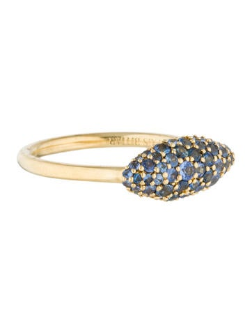 Alexis Bittar Fine Jewelry 18K Pavé Sapphire Marquise Ring None