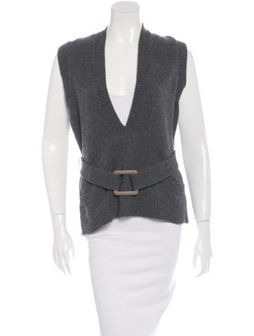 Akris Cashmere Knit Vest None