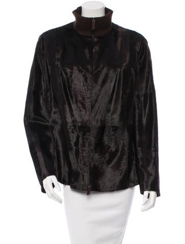 Akris Knit-Trimmed Broadtail Jacket w/ Tags None