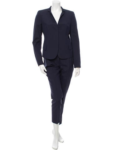 Akris Silk Fitted Pantsuit None