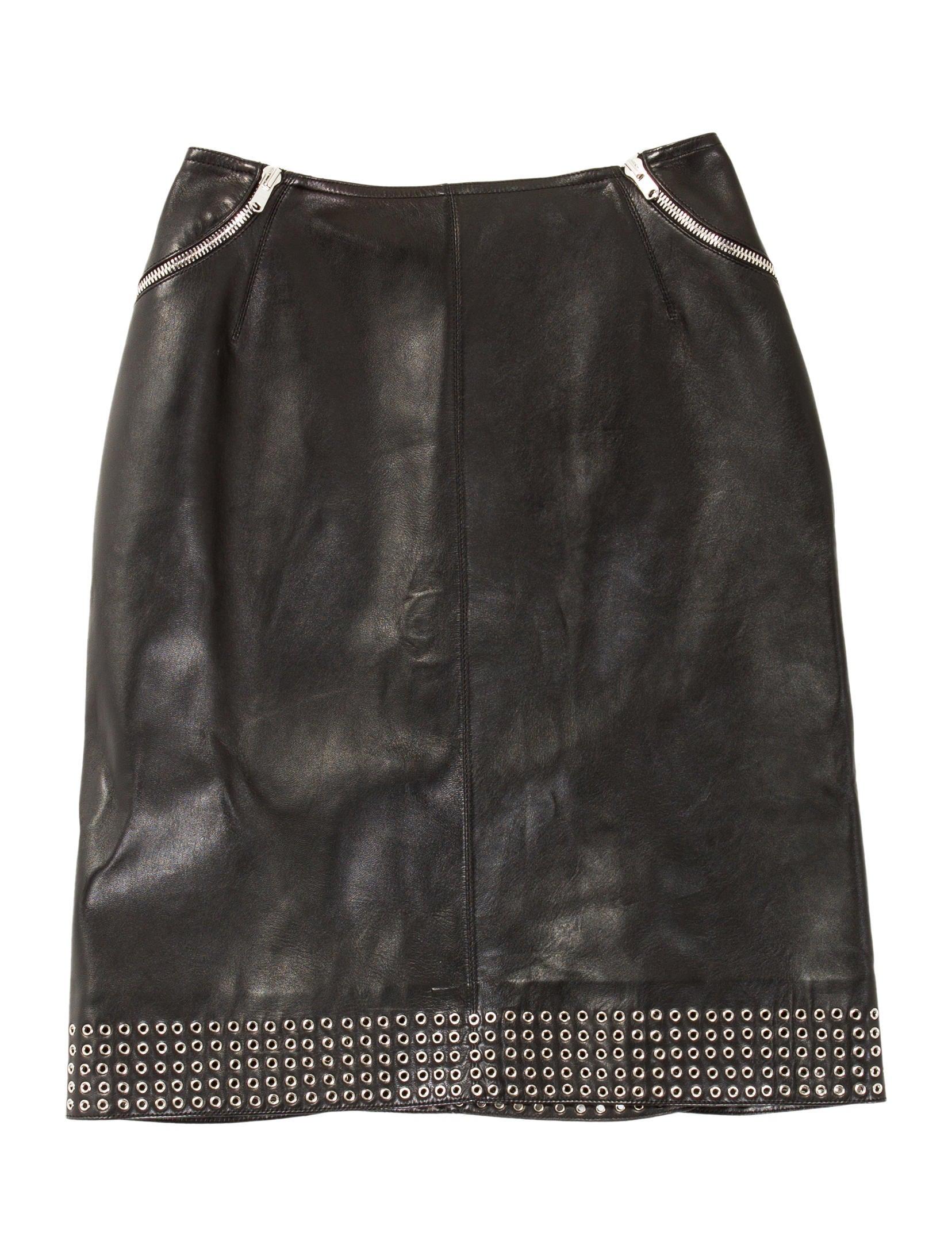 ala 239 a leather skirt skirts al223345 the realreal