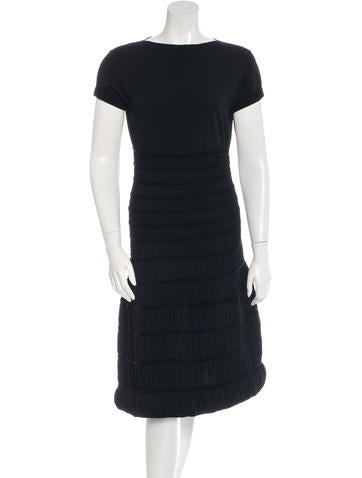 Alaïa Short Sleeve A-Line Dress