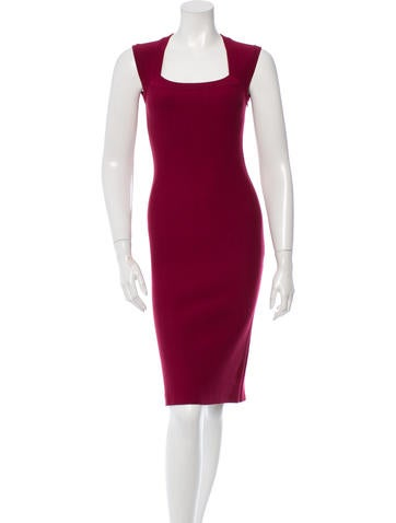 Alaïa Wool Bodycon Dress None