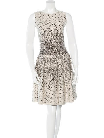 Alaïa Patterned Fit and Flare Dress None