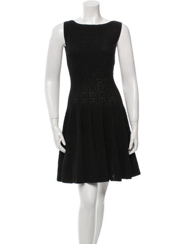 Alaïa Textured Fit and Flare Dress None