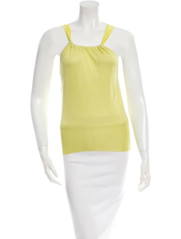 Alberta Ferretti Sleeveless Silk Top None
