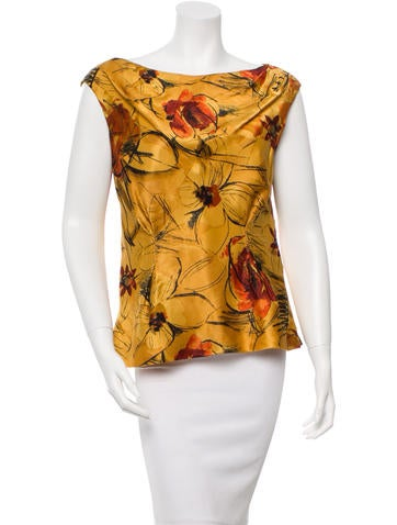 Alberta Ferretti Sleeveless Printed Top