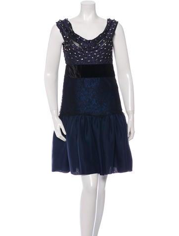 Alberta Ferretti Embellished Sleeveless Dress None