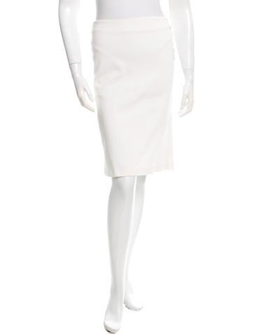 Alexander McQueen Ribbed Knee-Length Skirt None