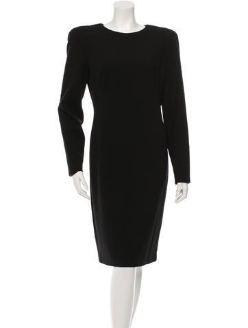 Alexander McQueen Wool Long Sleeve Dress