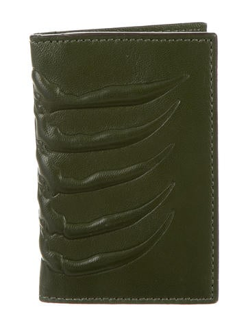 Alexander McQueen Leather Spinal Cord Card Holder