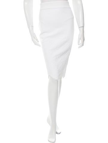 Alexander McQueen Scalloped Knee-Length Skirt None