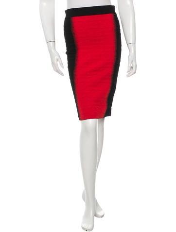 Alexander McQueen Textured Bodycon Skirt None