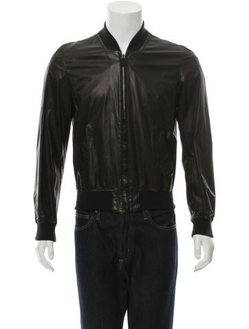 Alexander McQueen Leather Bomber Jacket None