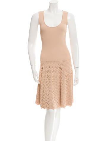 Alexander McQueen Sleeveless Rib Knit Dress None