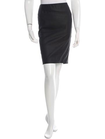 Alexander McQueen Knee-Length Pencil Skirt None