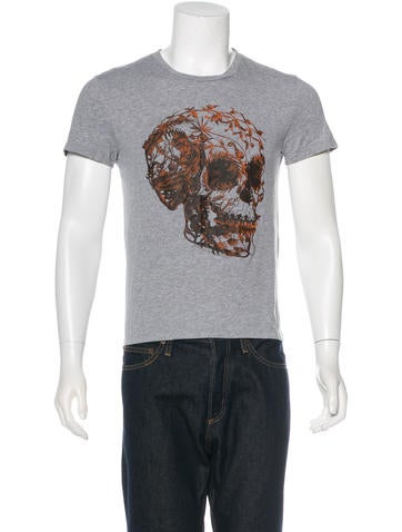 Alexander McQueen Skull Leaves Graphic T-Shirt None