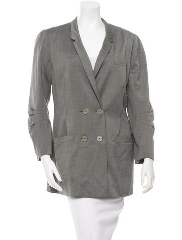 Alexander Wang Double-Breasted Woven Blazer None