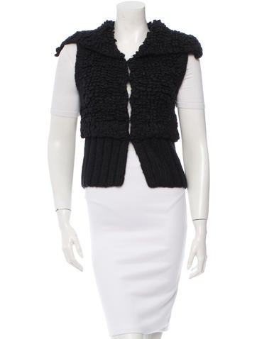 Alexander Wang Rib Knit-Trimmed Textured Vest None