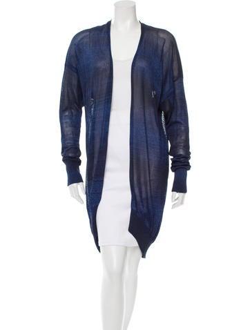 Alexander Wang Metallic Knit Cardigan None